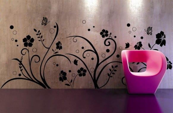 schöner wohnen farbrausch - wand dekoration- polstersessel in pink