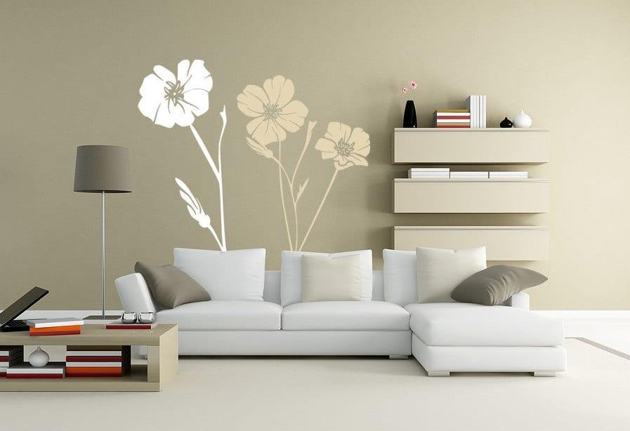 einrichten wohnzimmer- farbgestaltung- wand deko idee