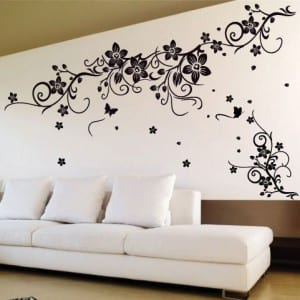 wandtattoo blumen kreative wandgestaltung freshouse. Black Bedroom Furniture Sets. Home Design Ideas