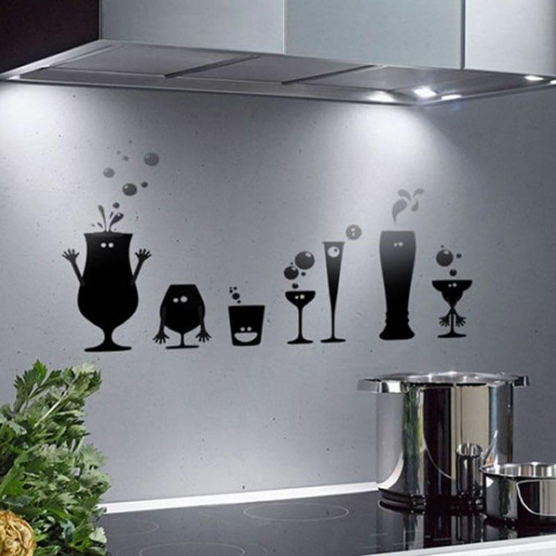 wandtattoo - 50 wandgestaltungsideen - freshouse - Wanddekoration Küche