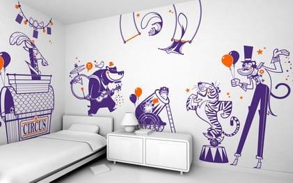 gestaltung kinderzimmer- wand dekoration für kinder