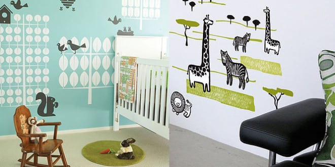 wandtattoo kinderzimmer tiere freshouse. Black Bedroom Furniture Sets. Home Design Ideas