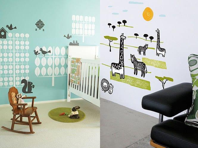 kreative gestaltung fürs kinderzimmer- wand dekoration kinderzimmer