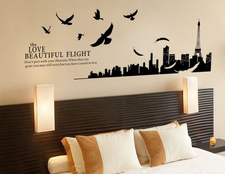 schlafzimmer wandgestaltung- wand dekoidee