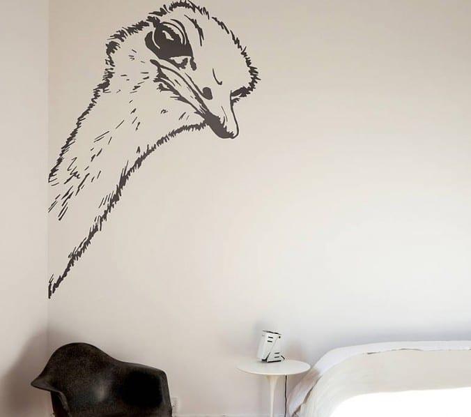schlafzimmer wandgestaltung mit wandtattoo
