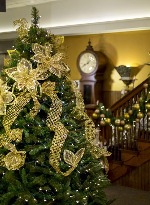 gelender weihnacht deko