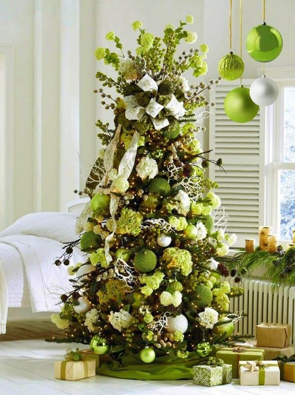 kreative grüne weihnachtsbaumdeko