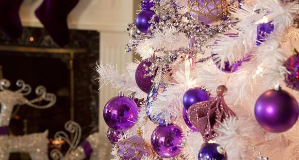 weihnachtsbaum deko in lila freshouse. Black Bedroom Furniture Sets. Home Design Ideas