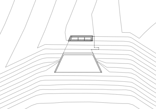 trapezformiger Betonbau Geländekunde