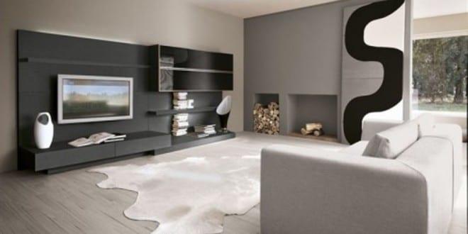 wohnwand grau - wohnzimmer grau - freshouse - Wohnzimmer Grau Laminat