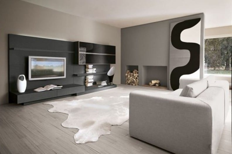 wohnzimmer grau freshouse. Black Bedroom Furniture Sets. Home Design Ideas