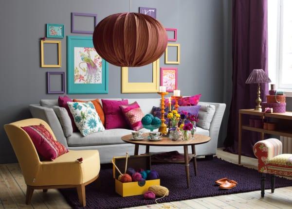 wohnzimmer grau violett:Wohnzimmer grau – Farbgestaltung wohnzimmer – fresHouse