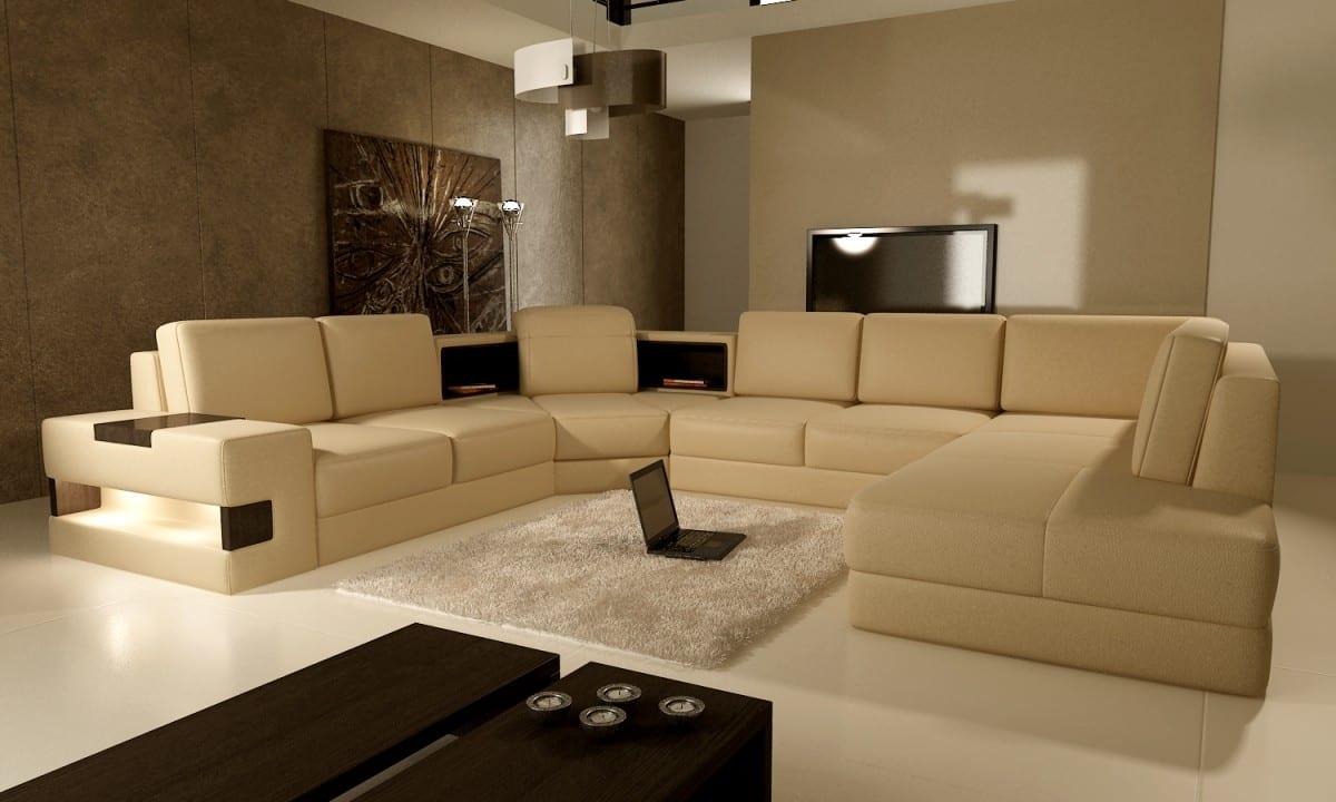 seats and sofas aus weißem Leder-modernes wohnzimmer mit weißem boden und teppich weiß