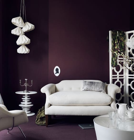 Farbgestaltung Wohnzimmer Lila House To Home