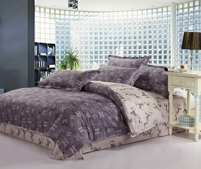 modernes schlafzimmer mit wandfarbe grau und Rundwand aus Glassteinen