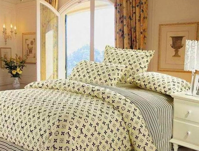 modernes schlafzimmer mit gardinen vorschläge gelb