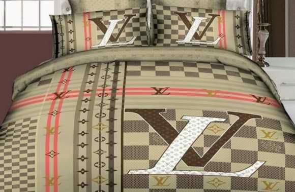 bett dekorieren mit Louis Vuitton bettwäsche - bettwäsche baumwolle