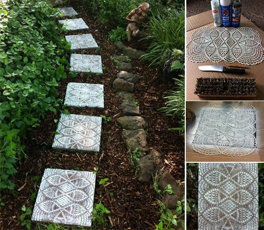 DIY Trittsteinen für coole gartenwege und gartendeko