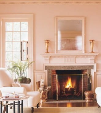 Altrosa Wandfarbe - eine zarte Wandfarbe Palette - fresHouse