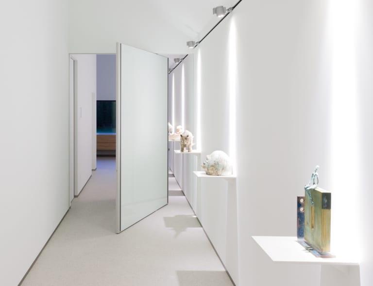 moderne wohnideen flur mit deckenleuchten für wandbeleuchtung-elegante wandgestaltung