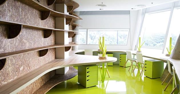 Büro design ideen  büro idee- das büro in grün - fresHouse