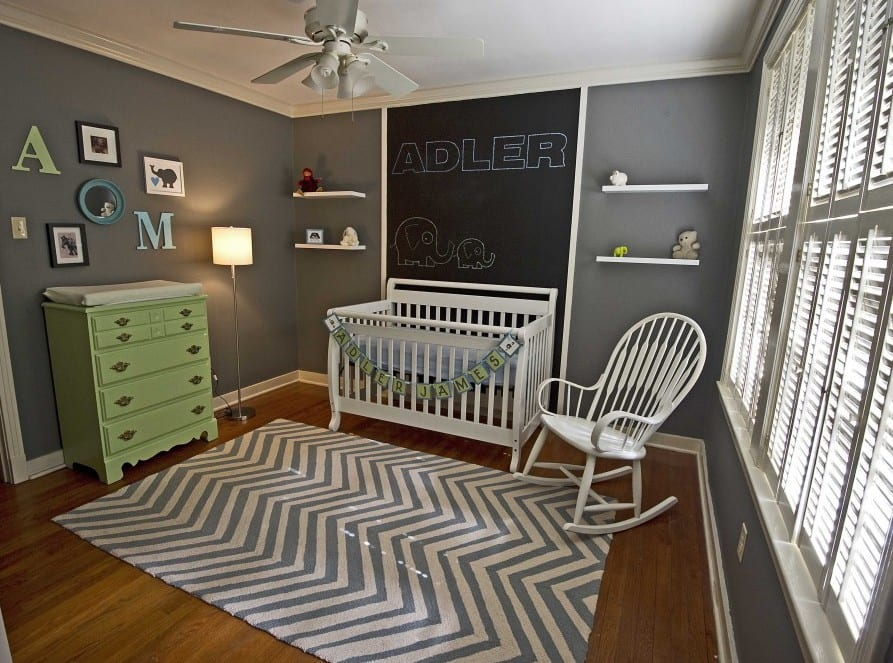 babyzimmer gestalten in grau freshouse. Black Bedroom Furniture Sets. Home Design Ideas