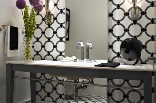 Badezimmer schwarz wei wandgestaltung badezimmer freshouse - Wandgestaltung schwarz weiay ...