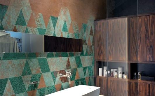 Badezimmer wandgestaltung mustertapete patina freshouse - Badezimmer wandgestaltung ...