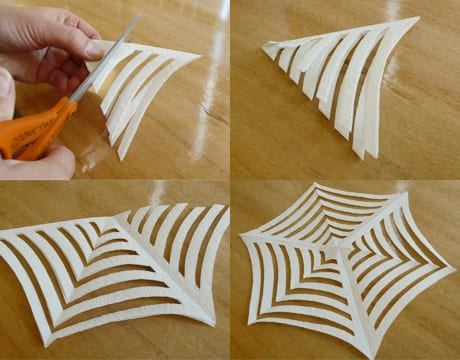 kreative sevietten falten idee für DIY Tischdeko