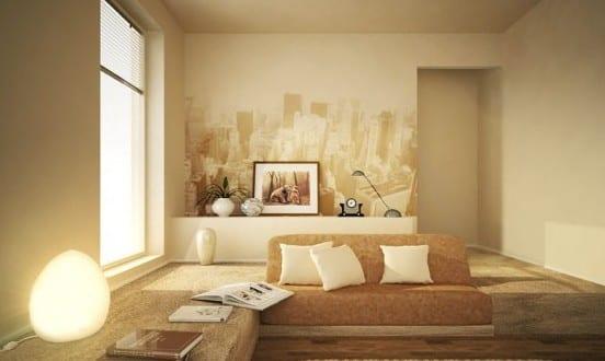 beige wandfarbe für stylisches wohnzimmer - fresHouse