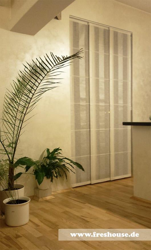 gardinen dekorationsvorschläge-wand streichen ideen-laminatboden und beige wände