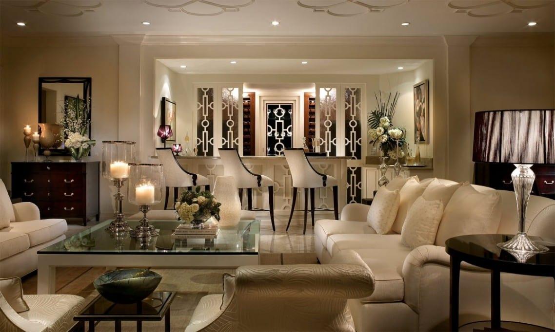 luxus wohnzimmer inspirationen mit seats and sofas in weiß-moderne barhocker  weiß schwarz-weißer couchtisch mit glasplatte