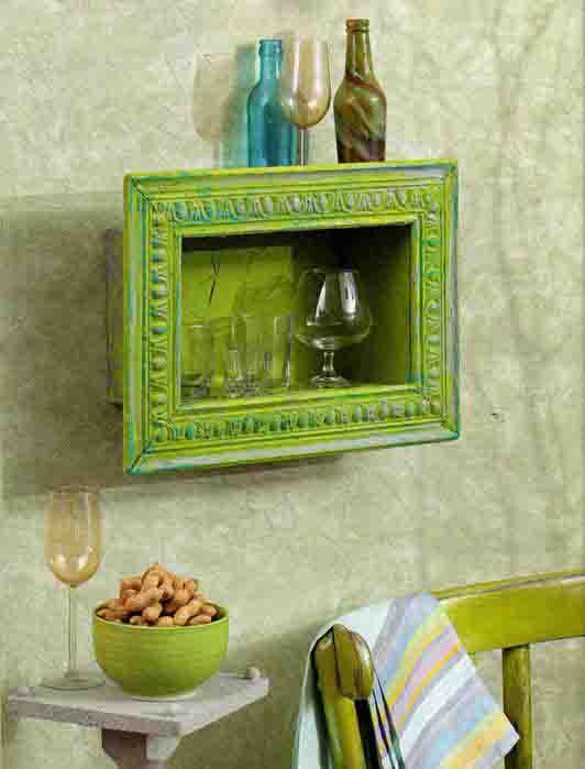 wanddeko selber machen- dekoration in grün