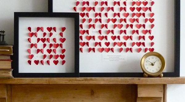 bilderrahmen dekorieren-valentinstag deko - fresHouse