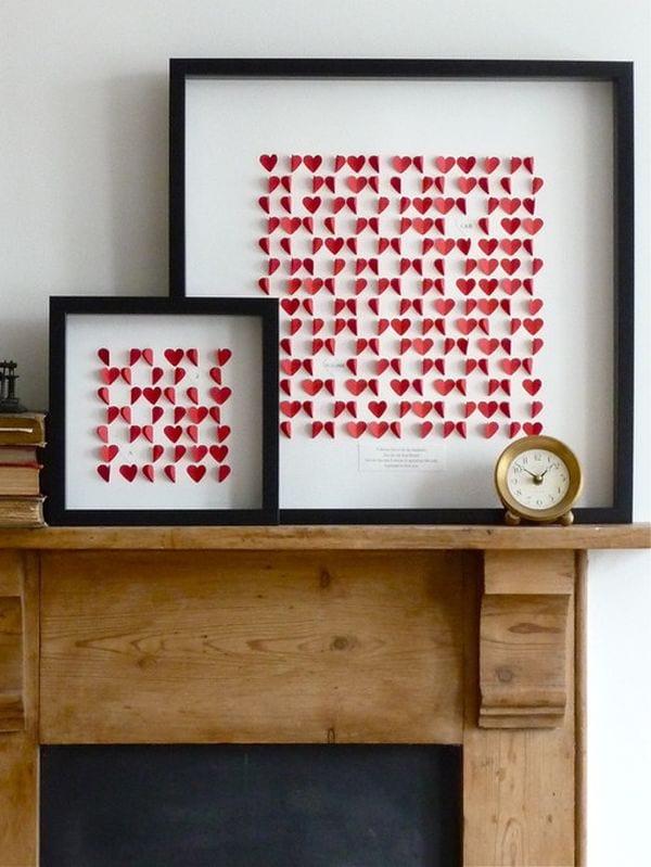 Bilderrahmen valentinstag basteln