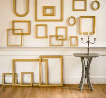 bilderrahmen dekorieren wandfarbe wei freshouse. Black Bedroom Furniture Sets. Home Design Ideas