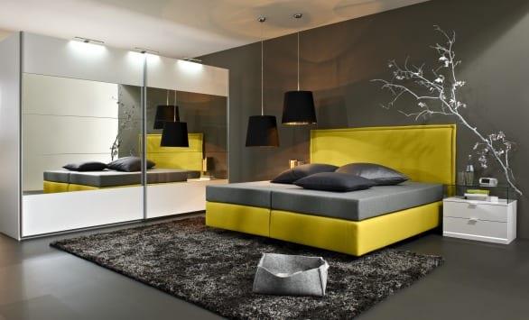 box spring bett von arte m freshouse. Black Bedroom Furniture Sets. Home Design Ideas