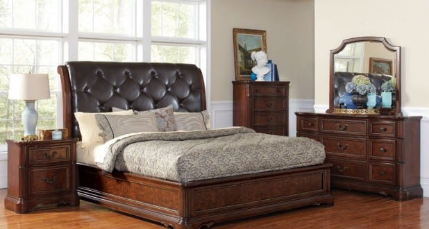 box spring bett antik freshouse. Black Bedroom Furniture Sets. Home Design Ideas
