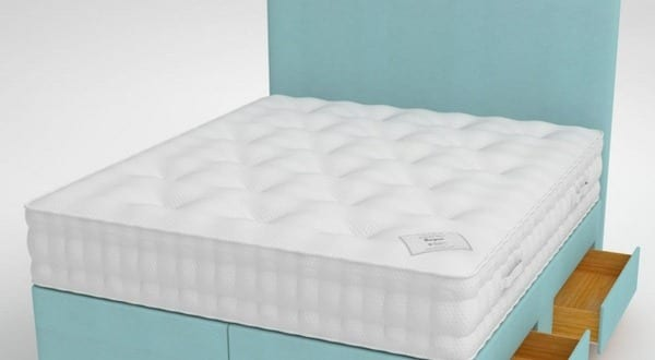 box spring bett hellblau freshouse. Black Bedroom Furniture Sets. Home Design Ideas
