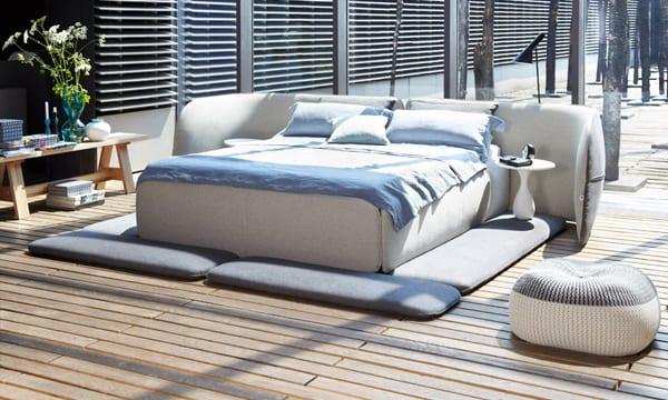 luxus schlafzimmer mit modernes bett