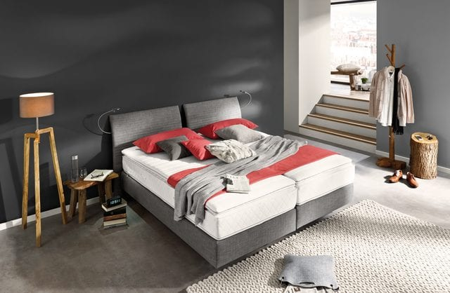 schlafzimmer grau-bett grau-bettbeleuchtung
