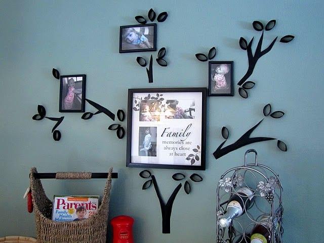 schwarze bilderrahmen dekorieren