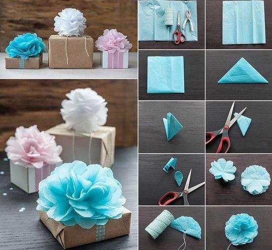 kreative bastelideen für geschenkverpakung