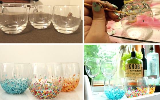 deko selber machen aus gläsern - gläser bemalen