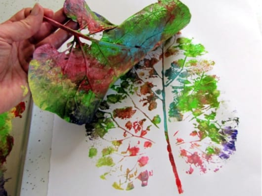 kreative bastelideen mit baumblättern