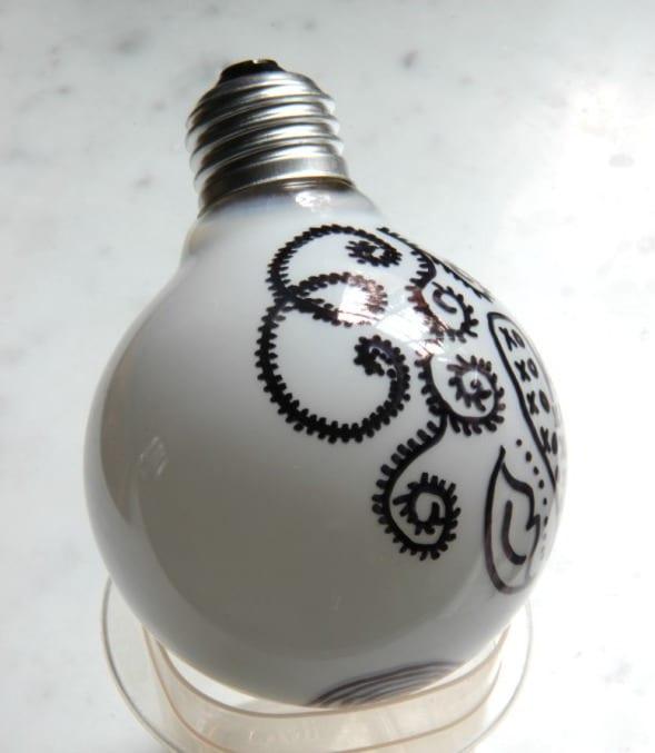 deko mit glühbirnen