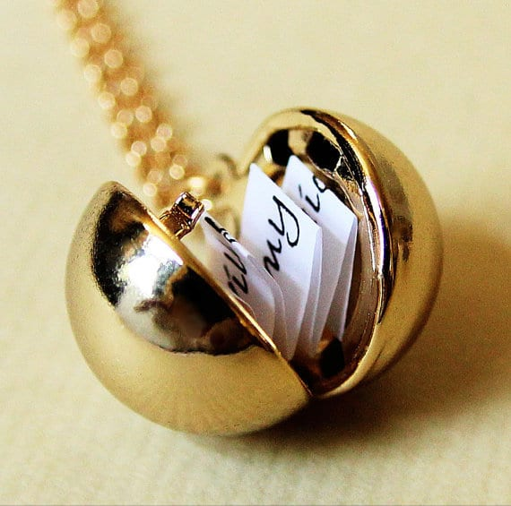 geschenkidee für SIE - goldene halskette
