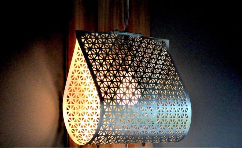 DIY lampen aus Gittermetallblatt