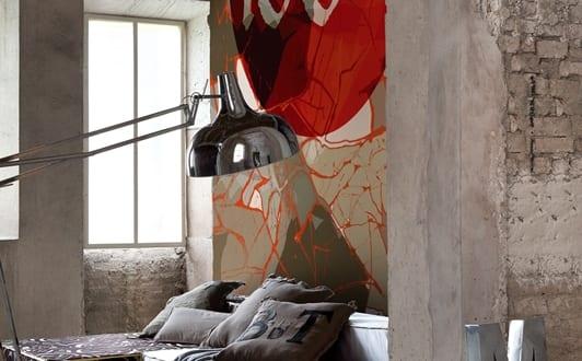 coole wandgestaltung mustertapete onehundredpercent. Black Bedroom Furniture Sets. Home Design Ideas
