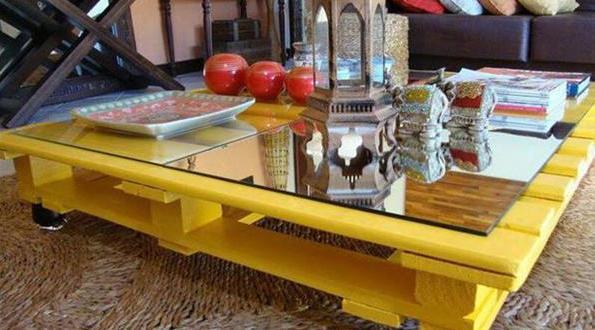couchtisch selber bauen gelber kaffeetisch freshouse. Black Bedroom Furniture Sets. Home Design Ideas